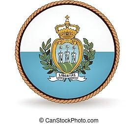 San Marino Seal - Flag seal of San Marino.