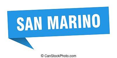 San Marino sticker. Blue San Marino signpost pointer sign