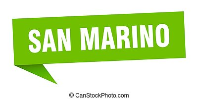 San Marino sticker. Green San Marino signpost pointer sign