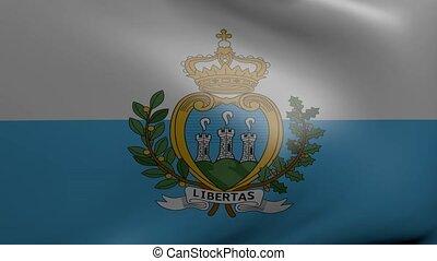 san marino strong wind flag