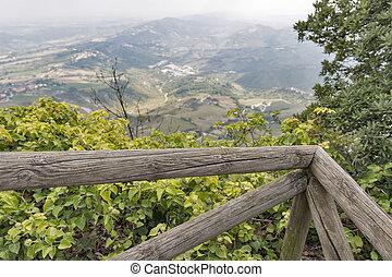San Marino view from mountain Titano