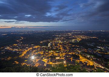 San Marino, View from the Monte Titano