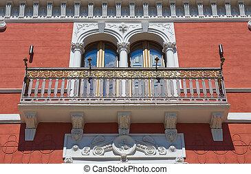 san, palace., italy., puglia., severo., histórico