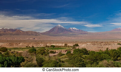 San Pedro de Atacama and Licancabur volcano timelapse - San...