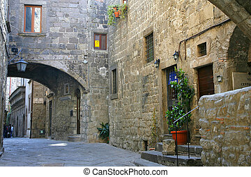 San Pellegrino - Medieval district - Viterbo - Italy
