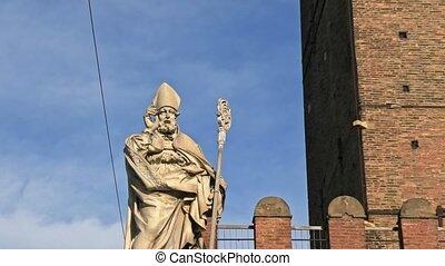 San Petronio patron of Bologna - San Petronio statue, patron...