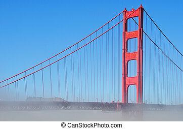 san, portail, doré, pont, francisco