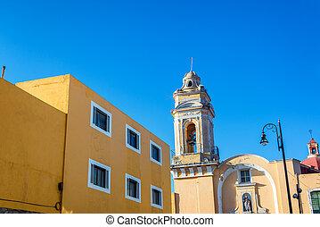 San Roque Church in Puebla