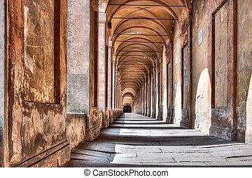san, säulengang, di, mortadella, luca, iraly