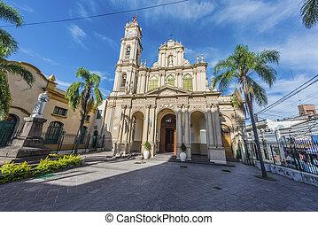 san salvador, de, catedral, argentina., jujuy
