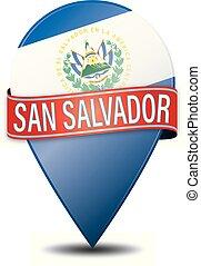 SAN SALVADOR EL SALVADOR glossy web pin