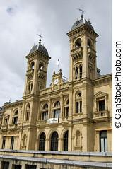 san sebastian - city hall building - city hall building in...