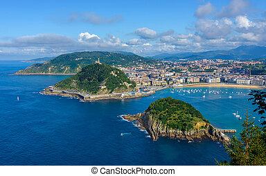 San Sebastian in Spain - San Sebastian in the Basque Country...