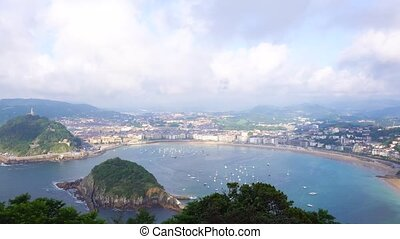 San Sebastian, Pais Vasco, Spain - San Sebastian harbour...