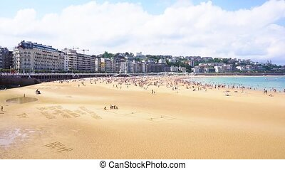 San Sebastian, Pais Vasco, Spain - view of San Sebastian...