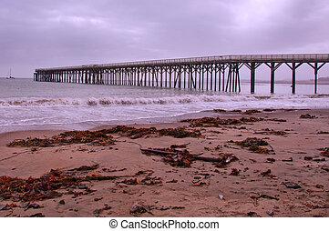 San Simeon Pier, California Coast - The Beautiful San Simeon...