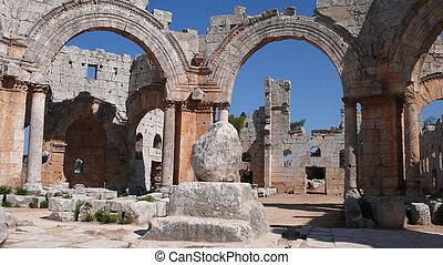 San Simeon. Syria - Basilica of San Simeon. Deir Samaan....