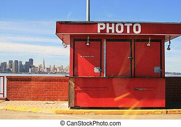 san, usa, photo, bungalow., francisco, californie