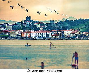San Vicente de la barquera village in Cantabria,Spain.