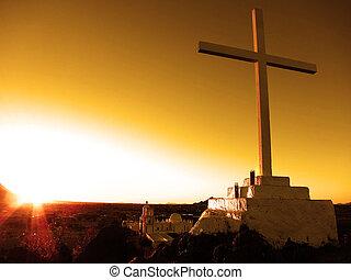 San Xavier Mission Christian Church Cross