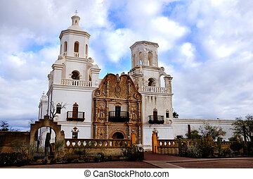 San Xavier Mission in Tucson Arizona Spanish Religioius