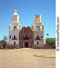 San Xavier Mission - San Xavier - Old spanish mission in...
