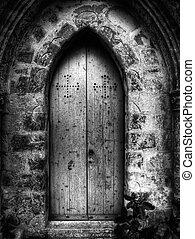 San Xmun Chapel - Gothic doorway to St Simeon Chapel in...