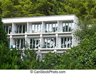Sanatorium at a resort in the mountains.