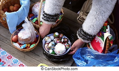 Sanctification of easter cakes and eggs