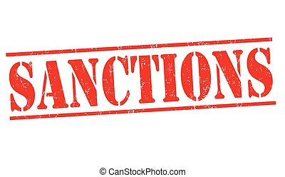 Sanctions grunge rubber stamp