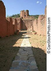 Sanctuary - Ruins of sanctuary of ancient mission church in ...