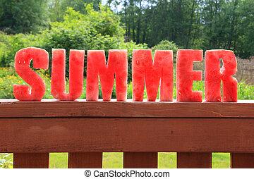 sandía, verano