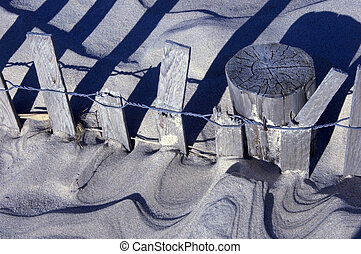 Sand and Fence Abstract