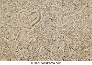 sand and hearts