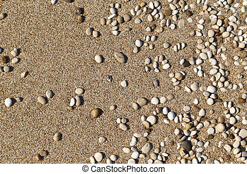 Sand and small pebbles texture background
