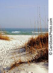 Sand and surf, a pure white beach