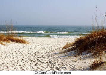 Sand and surf, the pure white beaches of Florida's emerald coast.