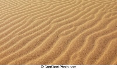 Sand and wind - Blowing wind makes rippled patterns in sand
