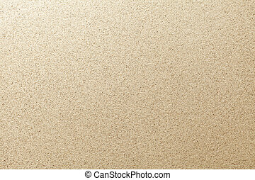 Sandy beach background. Detailed sand texture. Top view