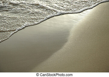 Sand Background - wave wet sand