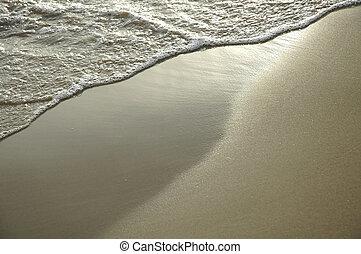 Sand Background - wave wet sand