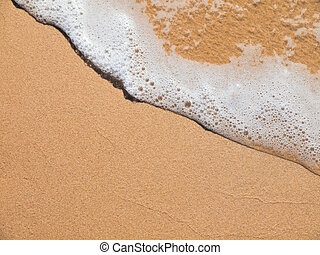 Sand beach and soft wave