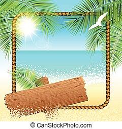 Sand beach background.