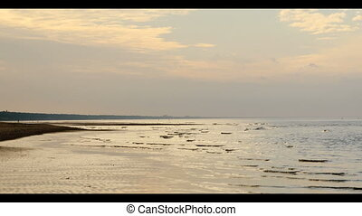 Sand beach in Baltic sea , Riga
