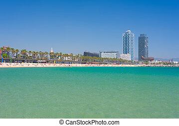 Sand beach in Barcelona