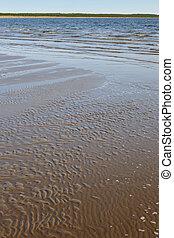 Sand beach in Finland. Yyteri area. Summer finnish holidays.