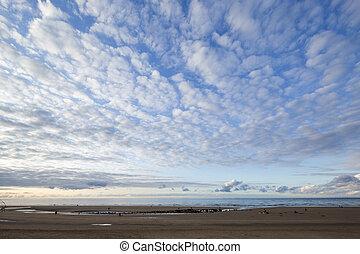 sand beach in galicia, spain