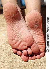 sand, beine, kind