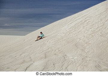 Sand Boarding on the Dunes