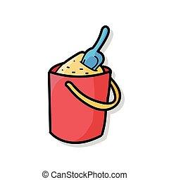 sand bucket doodle